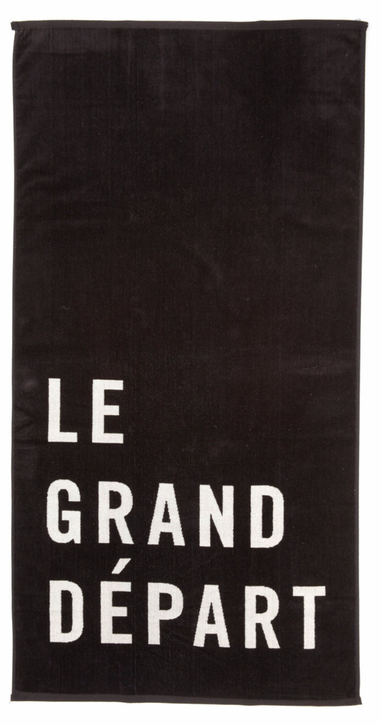 Clare V X One Kings Lane Beach Towel Black W Cream Le Grand