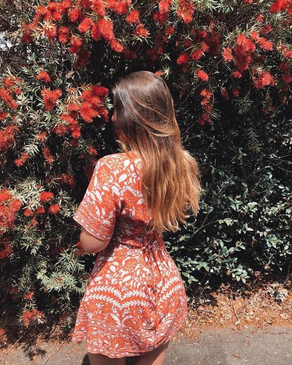 dress orange dress
