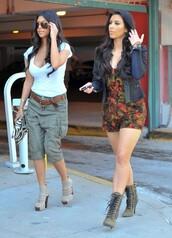 romper,kim kardashian,kourtney kardashian,keeping up with the kardashians,booties,boots,high heels,medium heels,low heels,summer,trendy,forever 21,h&m,shoes