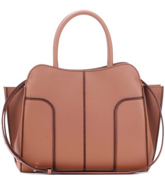 TOD'S leather brown bag