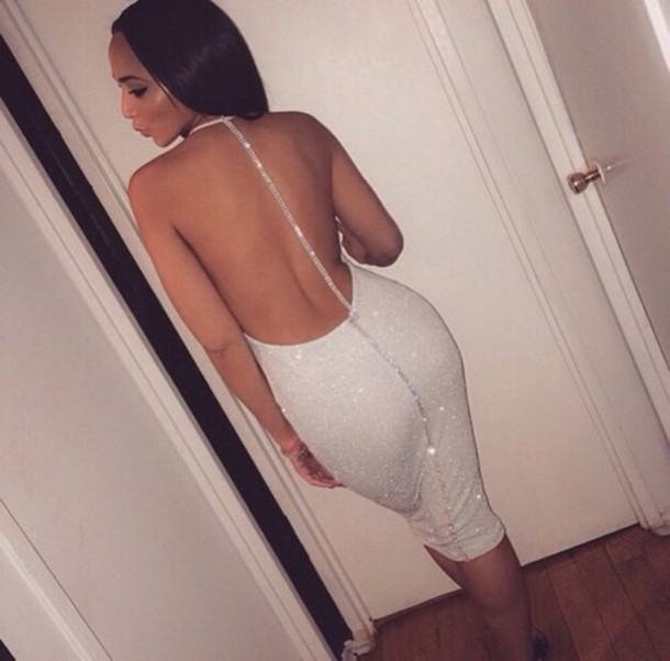 dress white dress shiny diamonds glitter dress