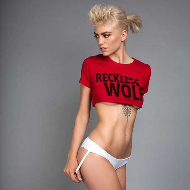 T Shirt Red Red Top Crop Tops Crop Sexy Teenagers Indie Underwear Lingerie Cute Girl