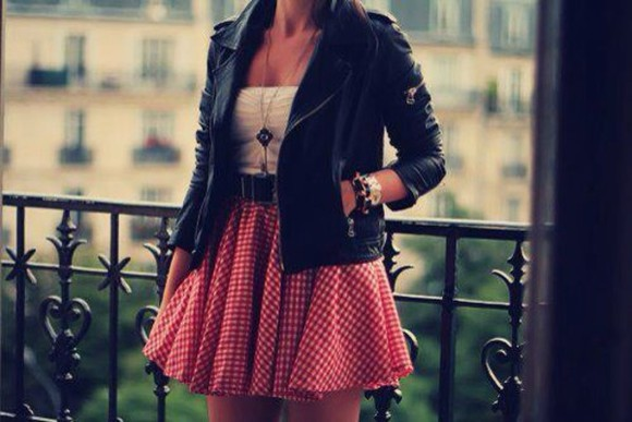 white tank top skirt cute dress cute skirts leather jacket free spirit