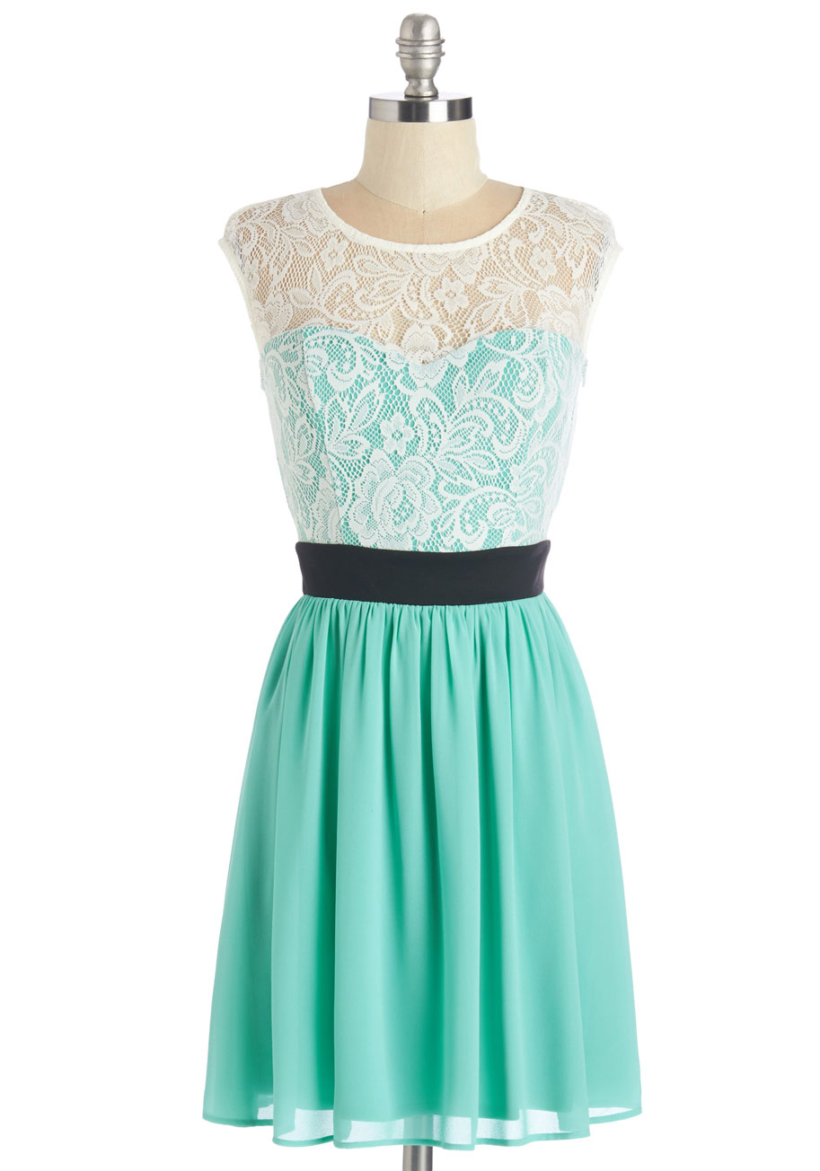 Story Dress in Turquoise