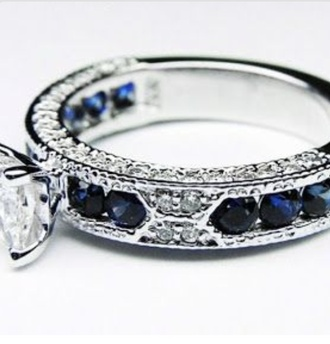jewels ring diamonds blue engagement ring blue wedding accessory
