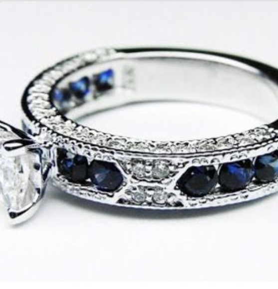 jewels ring diamonds blue