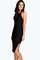Lydia crepe low back midi bodycon dress