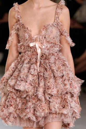 dress floral pink prom dress runway designer pink dress floral dress chiffon pink chiffon alexander mcqueen