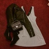 dress,zara dress,channel bag,bag,jacket,shoes