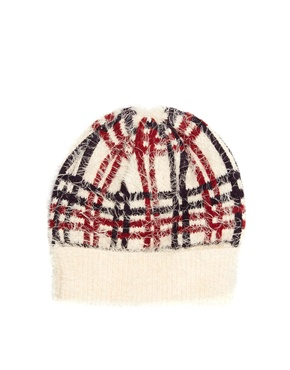 ASOS | ASOS Check Eyelash Beanie at ASOS