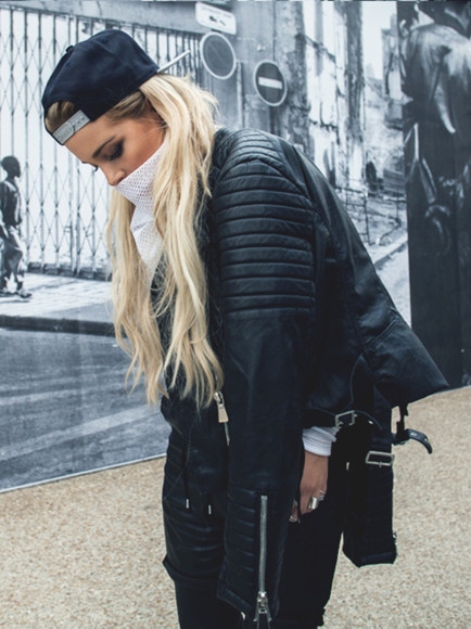 jacket leather jacket perfecto coats tumblr girl black leather jacket ribbed cardigan