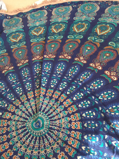 Home Accessory Beautiful Mandala Mandala Wall Hanging Mandala Fabric Blue  Mandala Round Mandala Fashion Round Mandala Design Ideas