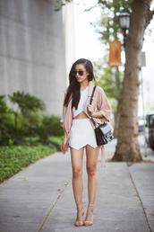 neon blush,jacket,t-shirt,skirt,sunglasses,shoes,coat,pastel pink coat,stretch