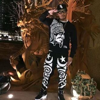 pants hustlegang moon star top