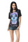 Black galaxy skull print tee top