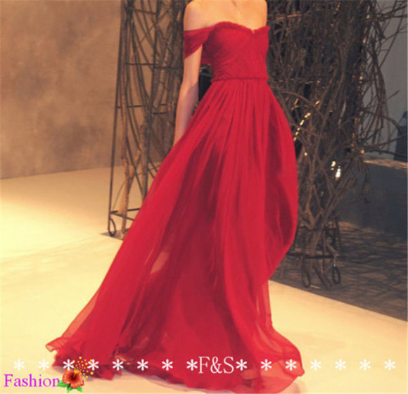 red prom red dress red maxi dress formal