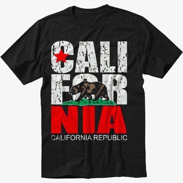 t-shirt california republic bear flag black t-shirt