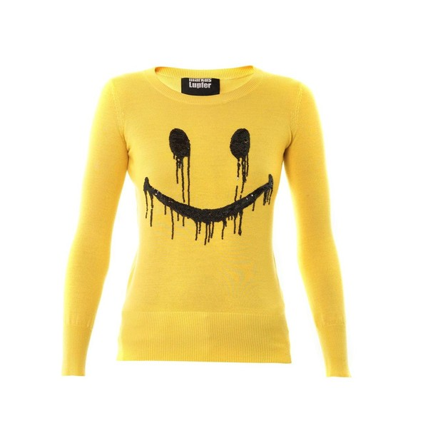 MARKUS LUPFER Smiley face sequin sweatshirt - Polyvore