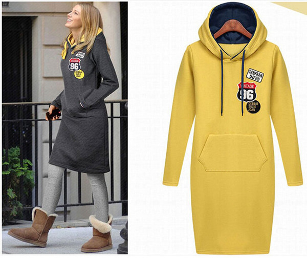 sweashirt long\ long sweatshirt hoodie grey yellow shoes