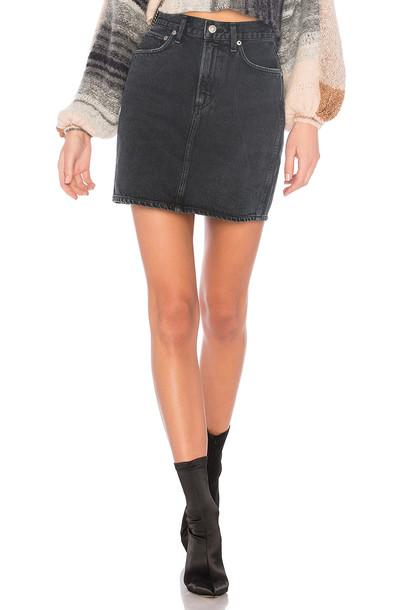 AGOLDE skirt mini skirt mini high