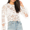 Lioness chancellor lace top in white from revolve.com