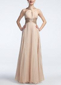 Long Chiffon Prom Dress with Side Cutouts - David's Bridal