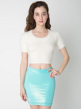 Fuzzy Cropped Tee   American Apparel