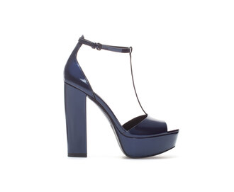 shoes high high heels platform shoes leather heels pumps party ootn ootd blue navy black pumps