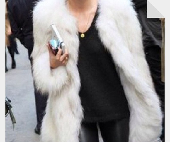 coat faux fur white big faux fur coat faux fur jacket