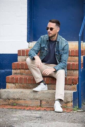 he spoke style blogger menswear denim jacket mens pants mens denim jacket