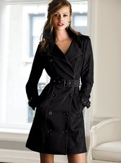 coat,trench coat,black coat,classy,victoria's secret