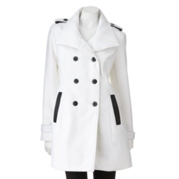 Byer California Double-Breasted Peacoat - Juniors