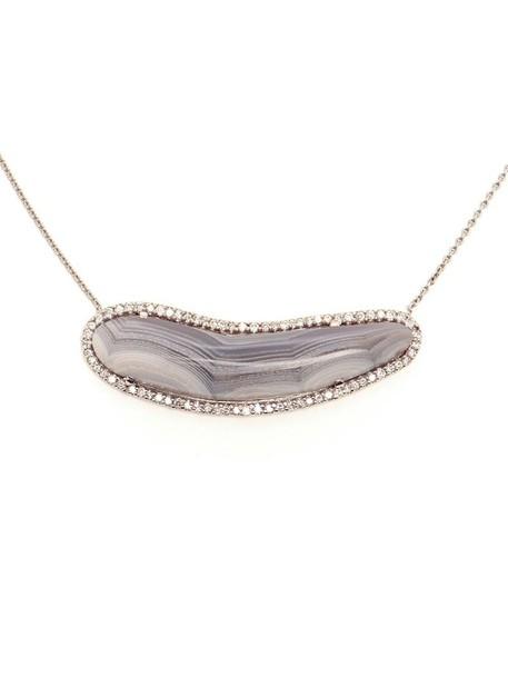 Kimberly McDonald women necklace gold white jewels