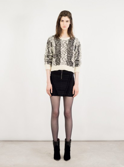 iro lookbook fashion shoes sweater skirt
