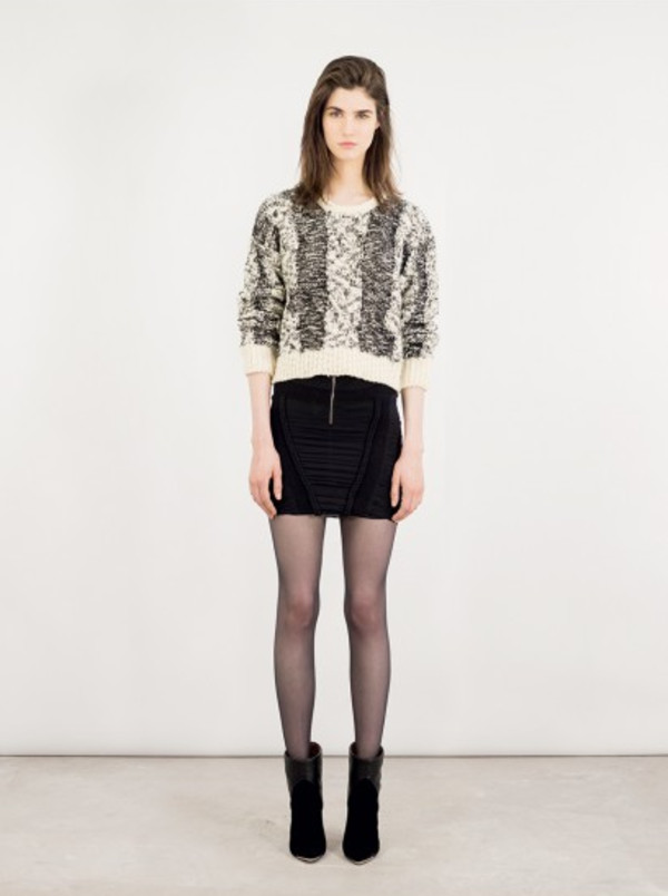 sweater fashion lookbook iro skirt shoes