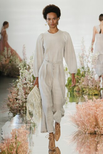 jumpsuit ulla johnson nyfw 2017 ny fashion week 2017 pants top runway