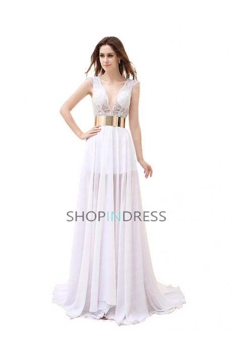 Empire sleeveless sashes/ribbons floor length evening dress sale at shopindress.com