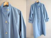 coat,london fog,vintage trench coat,blue trench coat,loose fit trench coat,spring coat,blue spring coat,70s trench coat