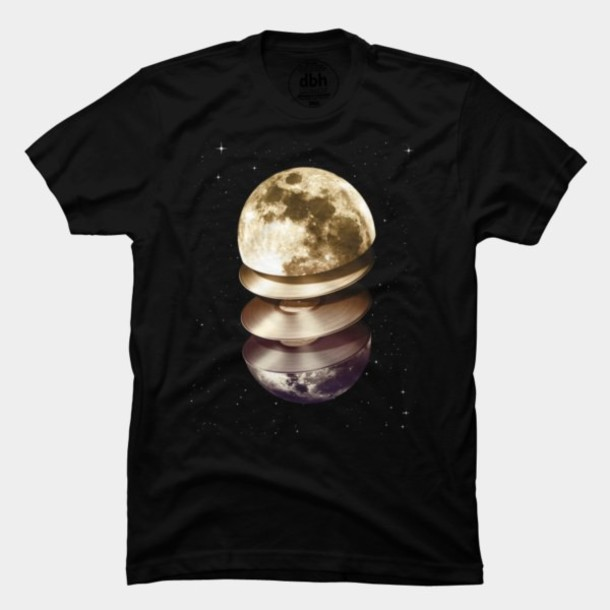 t-shirt band merch moon retro dress retro t shirt