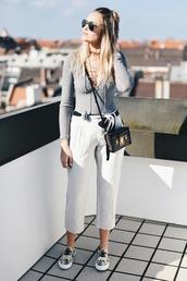 en vogue coop,blogger,top,pants,shoes,bag,boxed bag