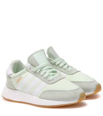 sneakers suede green shoes