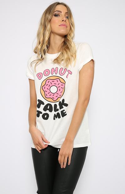 Donut talk to me tee