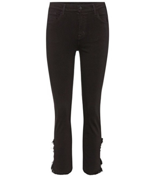 J Brand Ruby cropped skinny jeans in black