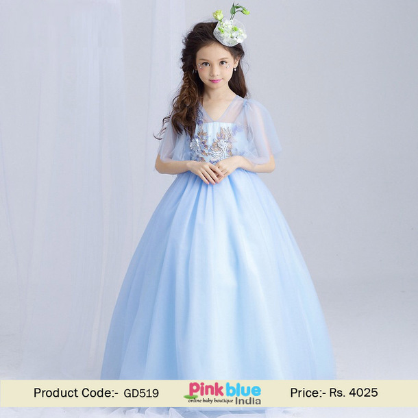 Pink and Blue Party Dresses for Girls