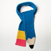 scarf,pencils,colorful,creative,artsy,scarves,cold,fashion