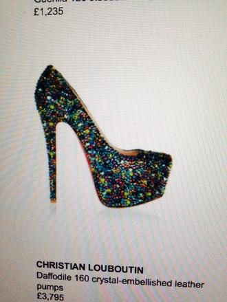 shoes versace high heels platform high heels cute high heels studs sparkle diamonds