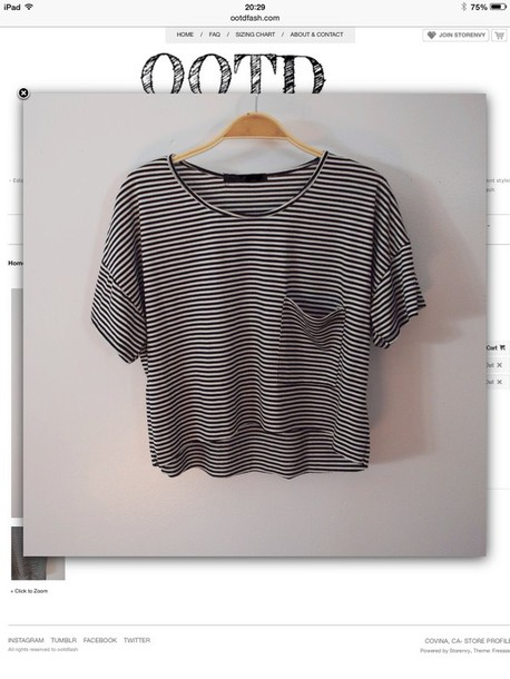 shirt stripes t-shirt