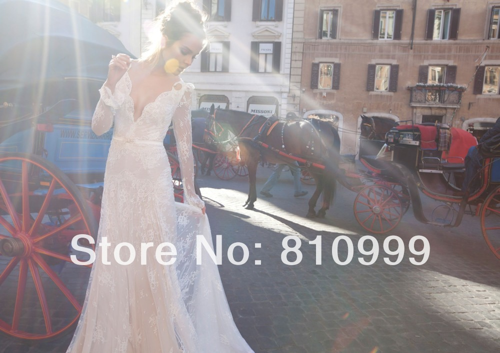 Aliexpress.com : buy ets3 fashion cap sleeves lace chiffon beach wedding dress 2014 v neck see through back bridal wedding gown custom size 2,4,6,8   from reliable dress sweatshirt suppliers on suzhou jaeden garment co., ltd.