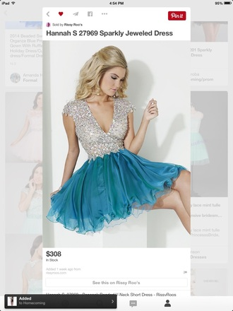 dress homecoming dress sparkly homecoming dress sparkly dress blue dress silver dress
