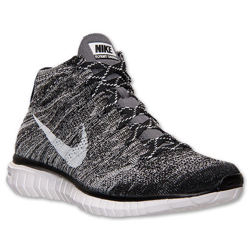 Nike free flyknit chukka mens sz running casual shoes black platinum 639700 001
